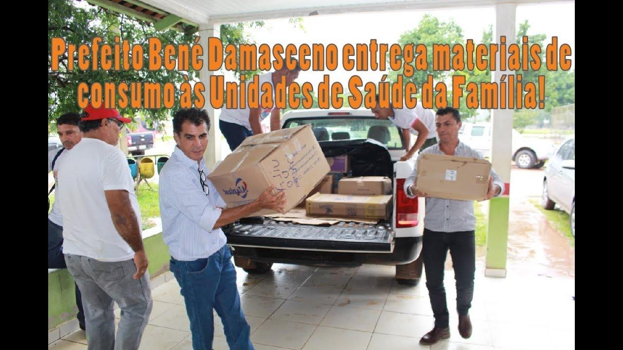 Prefeito Bené Damasceno entrega materiais de consumo as Unidades de Saúde da Família!