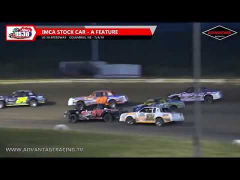 Hobby Stock/Stock Car Features - US 30 Speedway - 7/4/19
