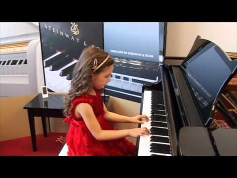 Klara Khomskii, 6 years old -  Steinway Piano Competition (rehearsal)