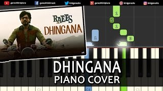 Dhingana Raees|Shah Rukh Khan|Hindi Song|Piano Chords Tutorial Instrumental Karaoke By Ganesh Kini