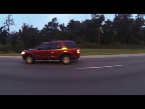 Dusk to Dark Passenger's View on I-75 South through Florida, 1 August 2016 GP225501