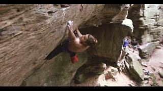 Nikita (8c) - Climbing in Berdorf, Luxembourg