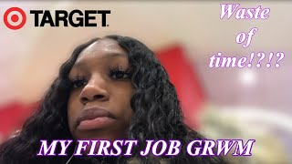 FIRST DAY OF WORK GRWM/VLOG||TARGET