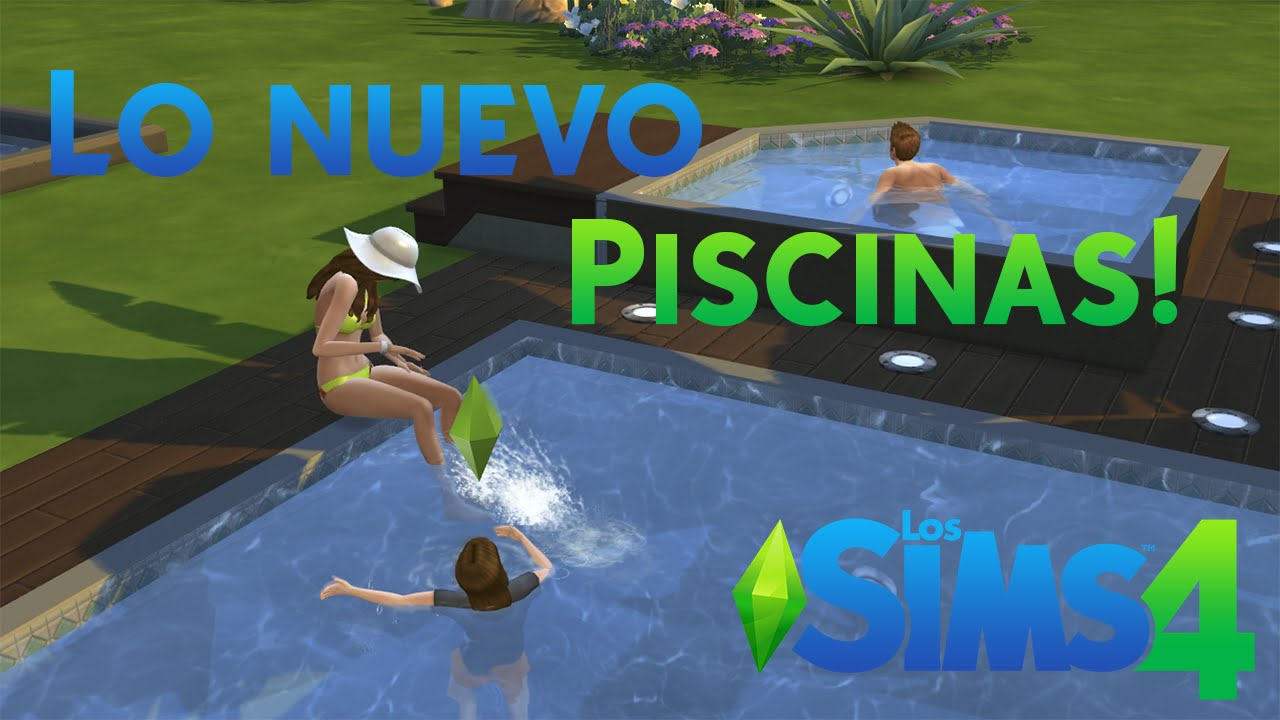 Los sims 4 piscinas youtube for Piscina sims 4