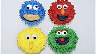 Cake decorating tutorials | how to make SESAME STREET CUPCAKES | Sugarella Sweets
