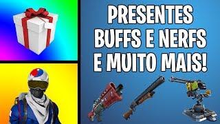 NOVIDADE NO SISTEMA DE PRESENTES, BUFF DAS SHOTGUNS E MUITO MAIS - Fortnite Battle Royale