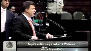 "Dip. Fernando Belaunzarán (PRD) - 2014 ""Año de Octavio Paz"""