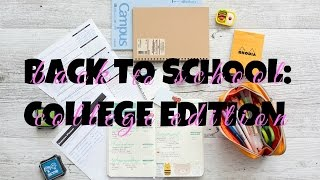 Back to School Supplies Haul 2016 | College Edition!