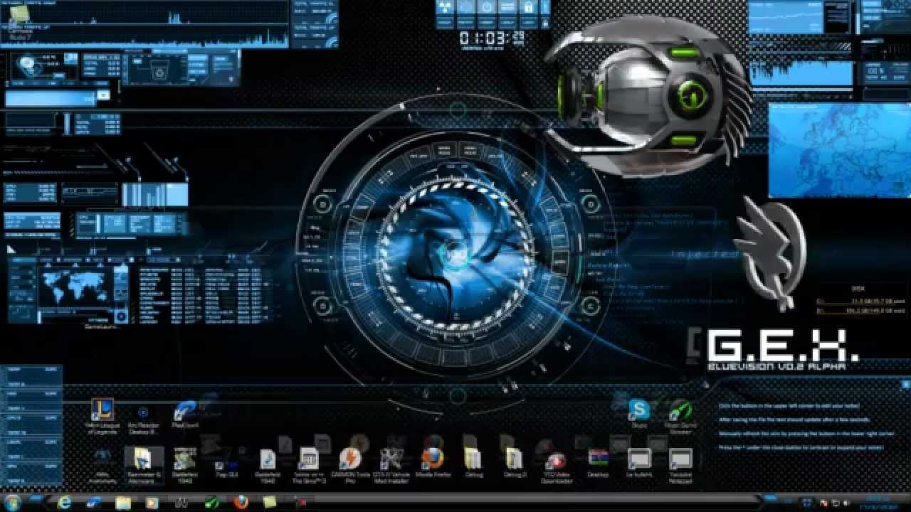 3d Animated Wallpaper For Windows 7 Ultimate Free Download 3d Windows Seven Alienware Media Player Theme Youtube