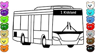 City Bus Coloring Book for Kids