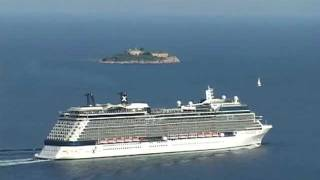 CRUISE CELEBRITY SOLSTICE DEPARTING FROM BOKA BAY - MONTENEGRO.