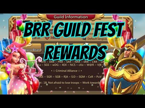 BRR Master Guild Fest Rewards! - Lords Mobile