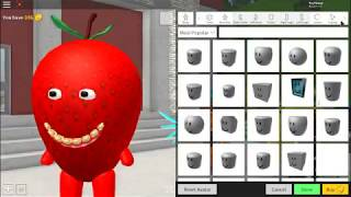 Roblox:How to be Sammy The Strawberry in Robloxian Highschool