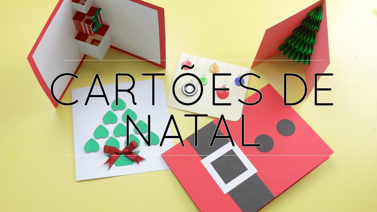 cartes de natal simples e fceis youtube