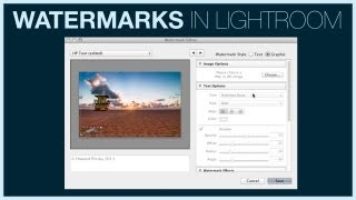 Add Watermarks in Lightroom 5 | IceflowStudios