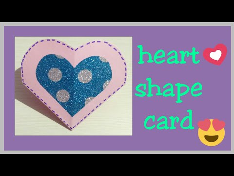 How to make Scrapbook Pages/ Cards Ideas/ DIY Scrapbook Tutorial (part 3)   || Heart Shape Card ||❤