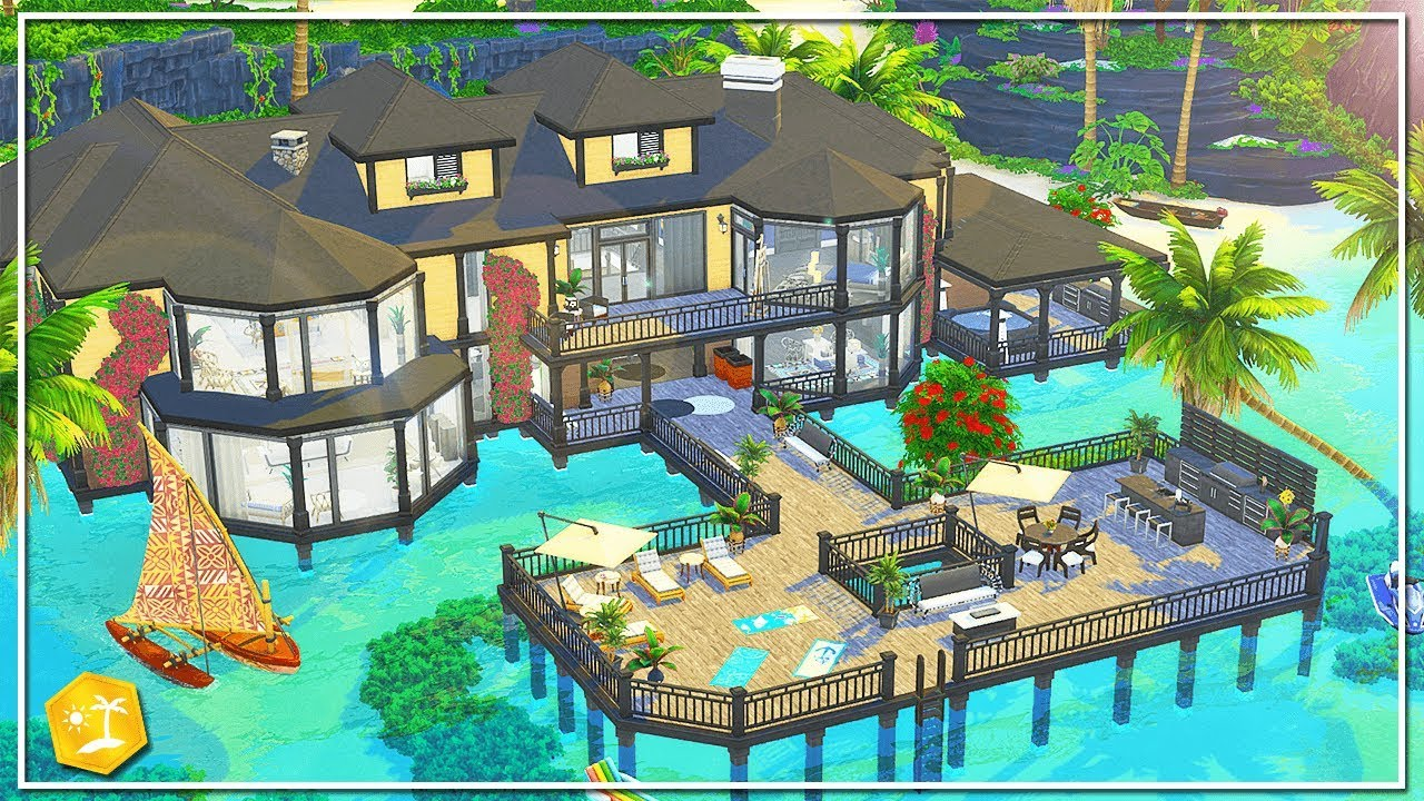 LUXURY SULANI MANSION || The Sims 4: Speed Build (NO CC) (Island Living)