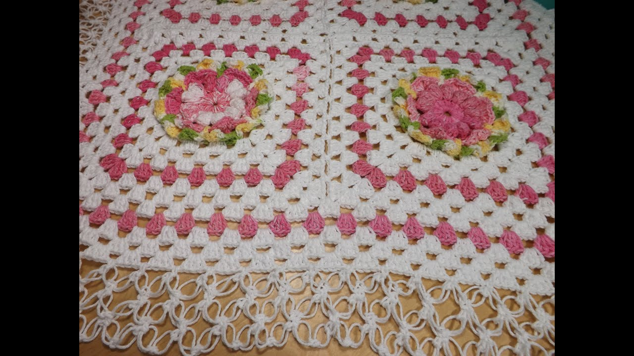 Crochet Granny Squares Baby Blanket Part 2 With Ruby