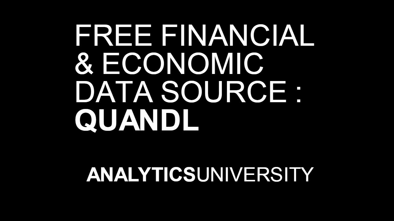 Quandl | Financial Data | Economic Data | Open Data