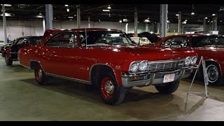1965 Chevrolet Chevy Impala in Red with 396 L78 Engine & Start Up on My Car Story with Lou Costabile