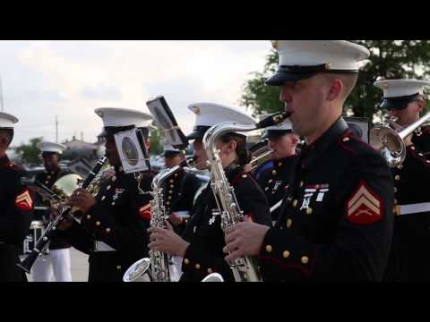 Marine Corps Band New Orleans at the old ball game