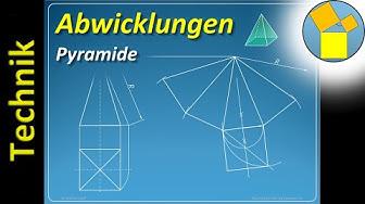 Abwicklung einer Pyramide - Geometrie - Rueff