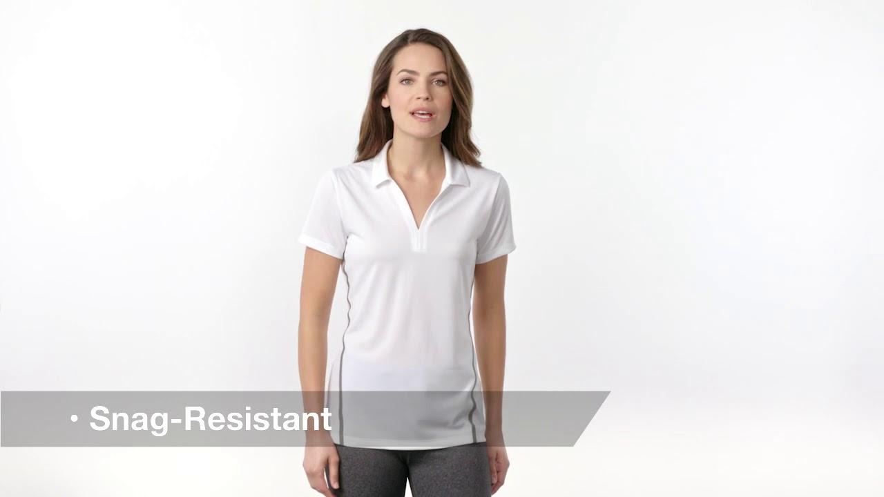 LST620 Sport-Tek Ladies Contrast PosiCharge Tough Polo