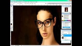 Рисование цифрового портрета в фотошопе (Алла Бергер)