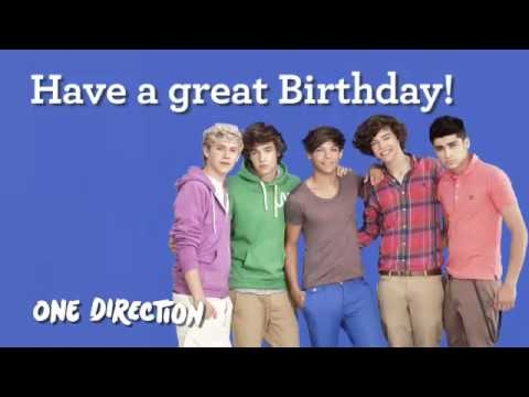 One Direction sings Happy Birthday