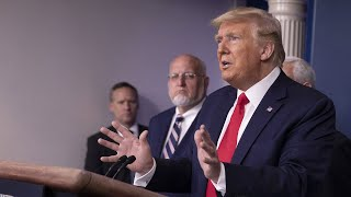 Trump and coronavirus task force brief from White House | NBC News (Live Stream Recording)
