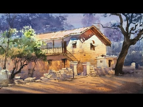 Plein Air Watercolour Landscape Painting | Old House  | EPISODE 29 | Ganesh Hire HD
