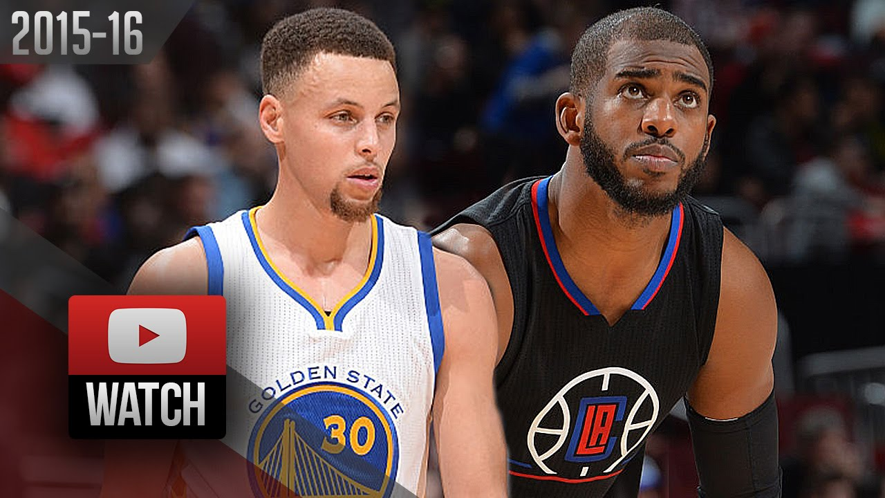 53e3ddf75bdb Stephen Curry vs Chris Paul PG DUEL Highlights (2016.02.20) Clippers vs  Warriors - SICK! - YouTube