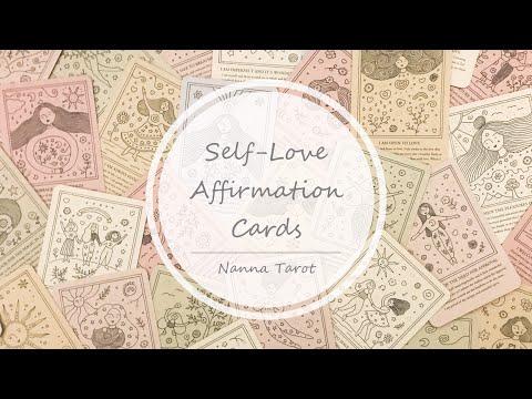 開箱  愛自己肯定卡 • Self-Love Affirmation Cards // Nanna Tarot