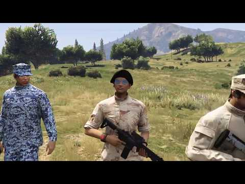 GTA 5 Military crew (Allied Nation Marine Corps Intro)(United Allied Nation)(PS4)