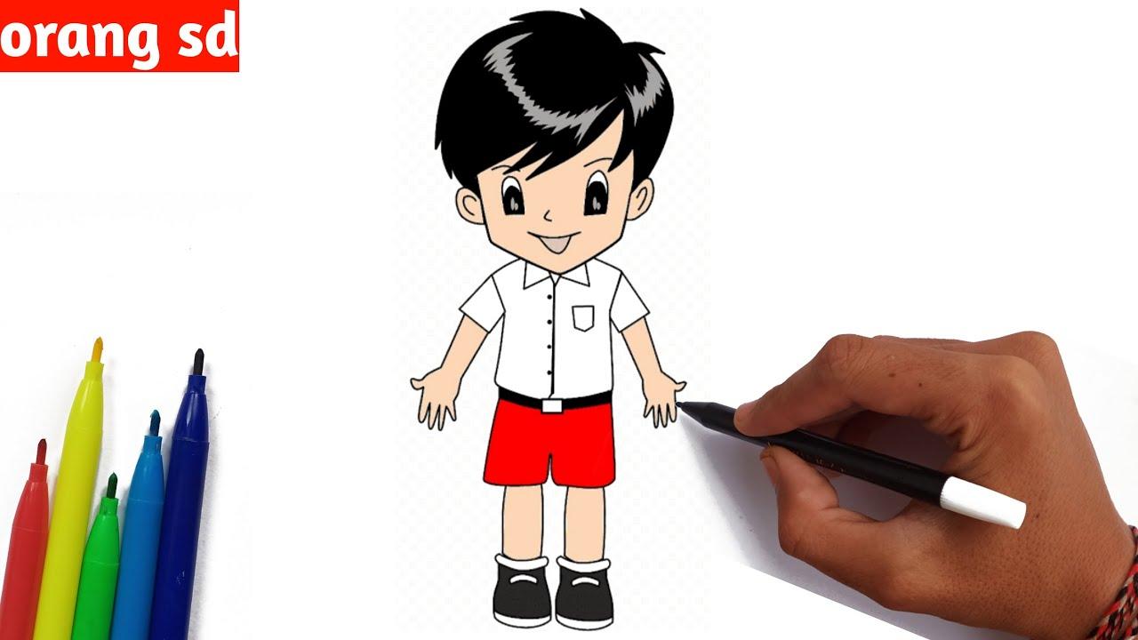 cara menggambar orang untuk anak sd  youtube