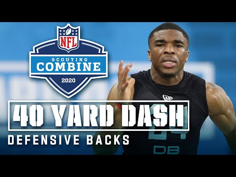 Defensive Backs Run The 40-Yard Dash At The 2020 NFL Scouting Combine