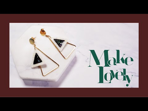 UVレジン | DIY Triangle Earrings | Resin Jewelry | Making Earrings | レジン イヤリング 作り方 | resin accessories