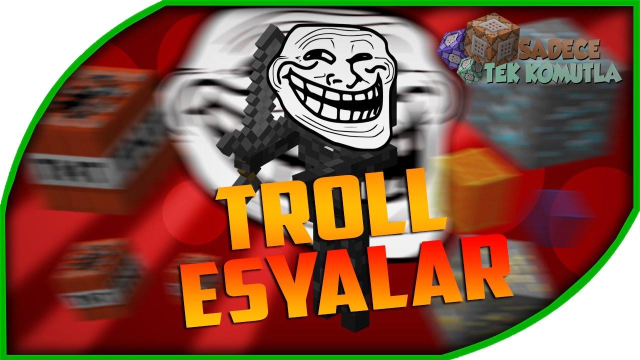 ♕ Minecraft: Troll Eşyaları Yapımı - Arkadaşlarınızı Trollamak İçin  (Modsuz)