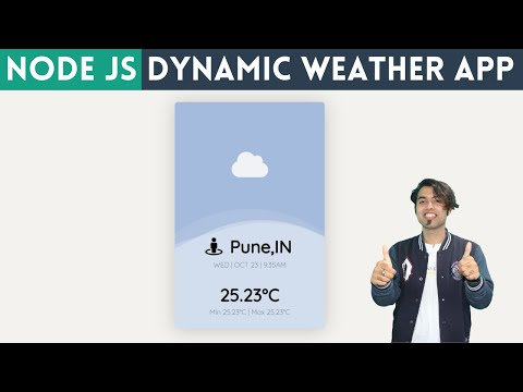 🔴 Create Complete Dynamic Weather Website(App) Using Real-Time API With HTML And Node.JS In Hindi