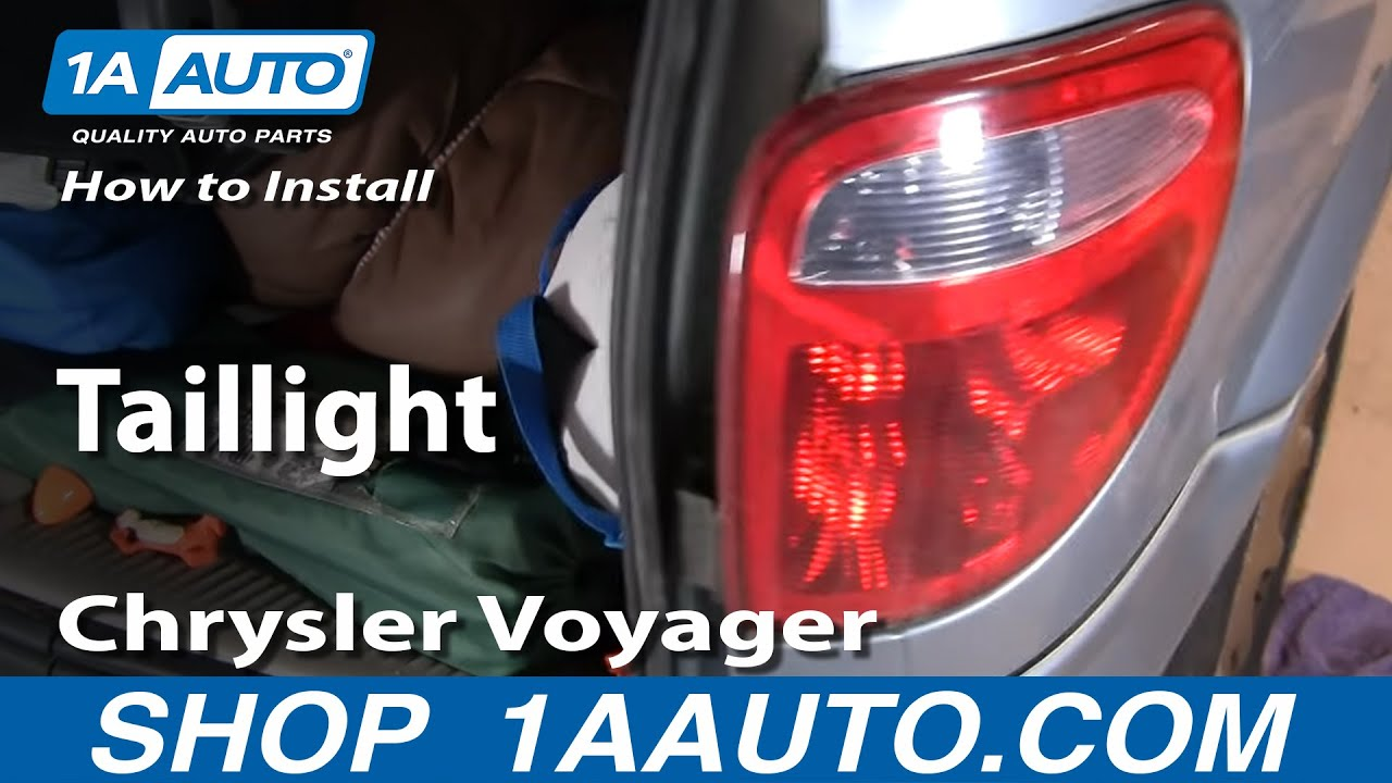 How To Replace Tail Light 01 03 Chrysler Voyager