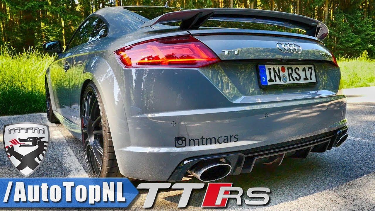 audi tt rs 612hp mtm loud exhaust sound revs onboard drive by autotopnl