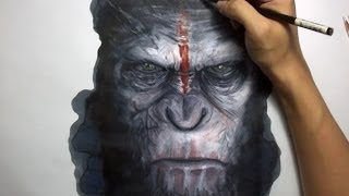 Drawing Caesar:  Dawn of the Planet of the Apes