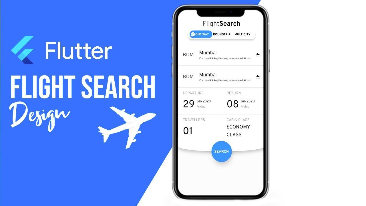 Flutter Flight Booking UI   Flutter UI Tutorial   Speed Code