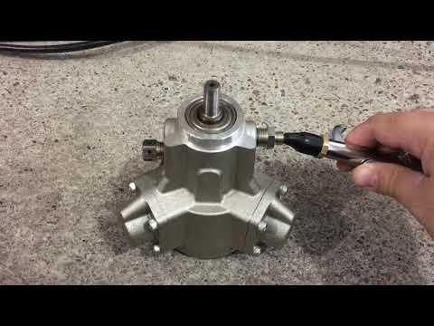 Piston Air Motor, 1/8 HP, 75 PSI test run