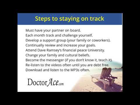 Doctor Ace's Debt to Wealth Program 2019 - Part 2: Step by Step Plan