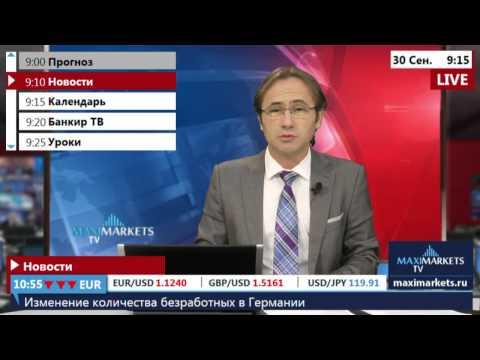 30.09.15 (9:00 MSK) - Новости рынка Форекс. MaxiMarkets форекс ТВ.