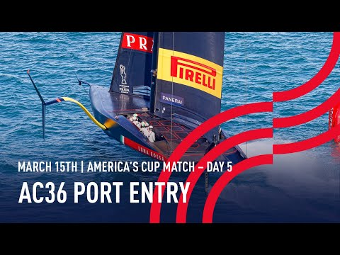 The 36thAmerica's Cup | Port Entry Stern Camera | 🔴 LIVE Day 5