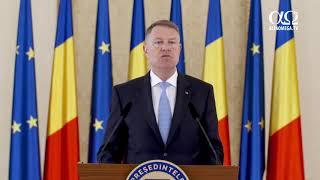 IMPORTANT! Declarația de presă susținută de președintele Klaus Iohannis