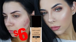 new wetnwild photo focus foundation and concealer review demo   tinakpromua