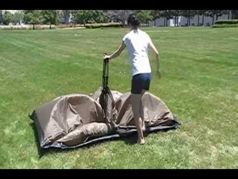 Genji Sports One-piece Instant Setup C&ing Tent & Genji Sports One-piece Instant Setup Camping Tent - YouTube